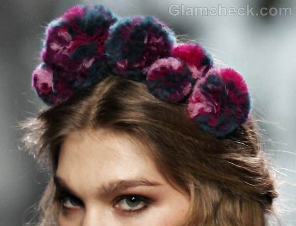 pom pom hair accessory style pick francis montesinos fall-winter 2012