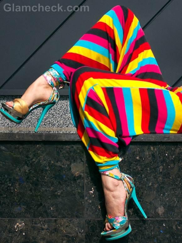rainbow harem pants style picture