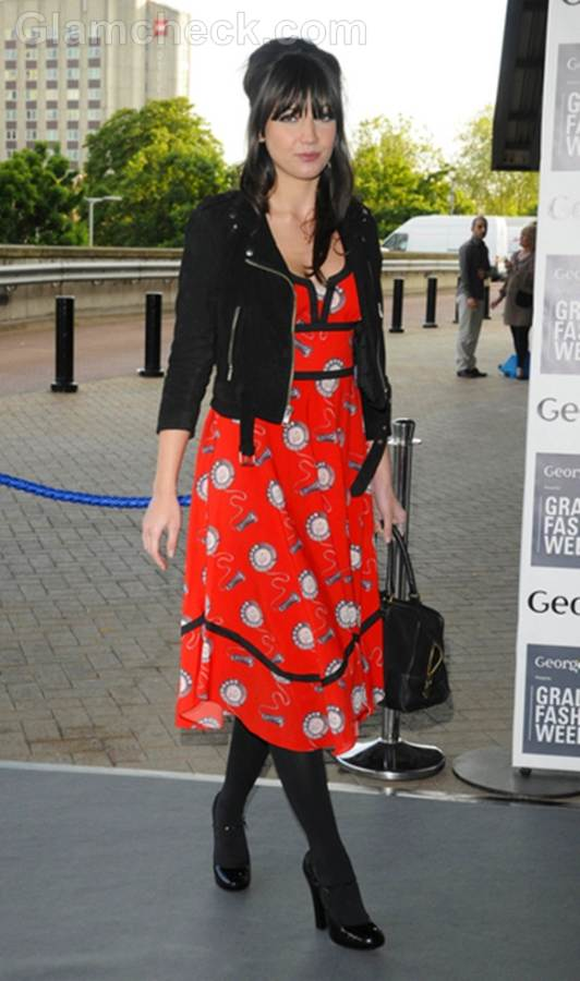 red black boho dress Daisy Lowe