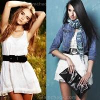 styling basic short white dress look
