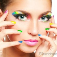 DIY rainbow nail art-2