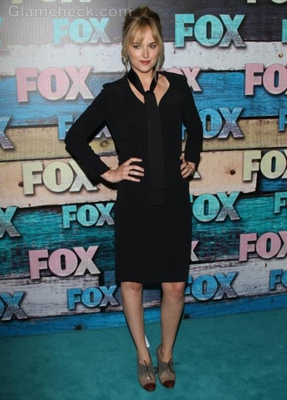 Dakota Johnson black dress
