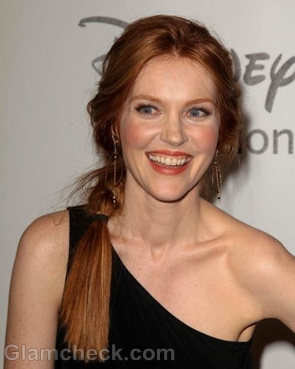Darby Stanchfield Side Braid at Disney Party