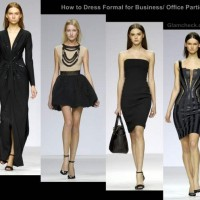 How dress formal for business office parties women