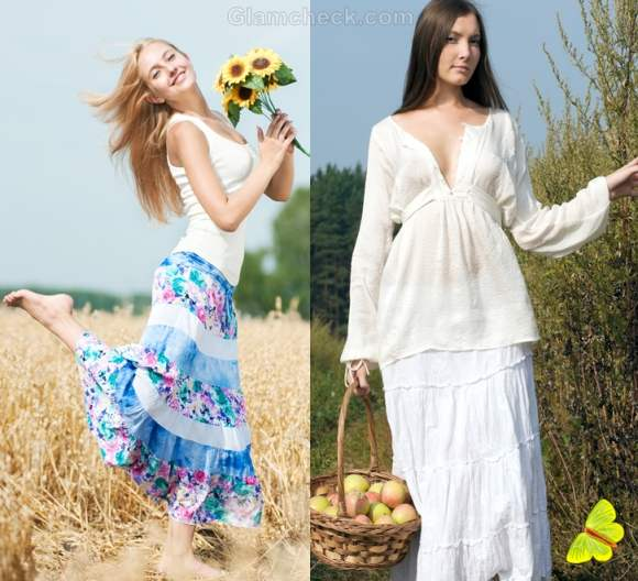 How to dress for picnic-skirts