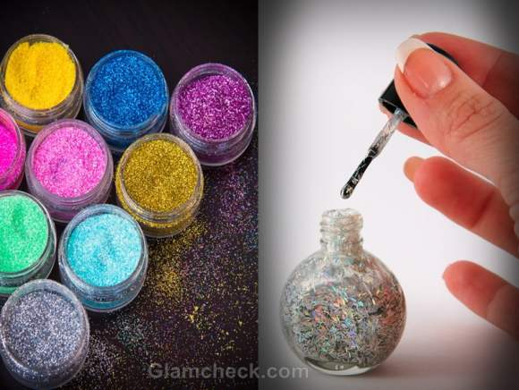 How to make glitter nail polish at home
