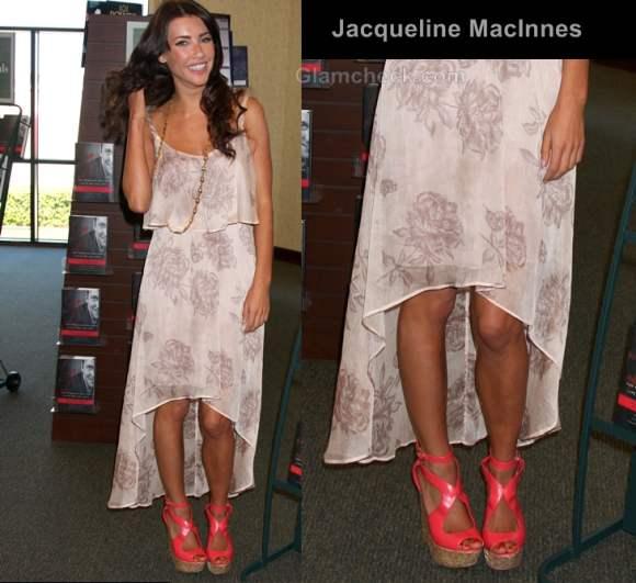 Jacqueline MacInnes style inspiration assymetric hem dress