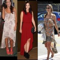 Style inspiration-wearing asymmetrical hem dresses