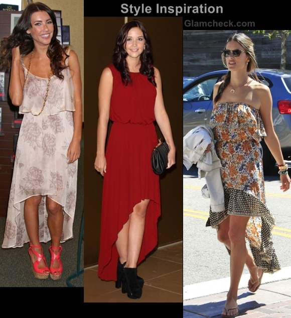 Style Inspiration Wearing Asymmetrical Hem Dresses