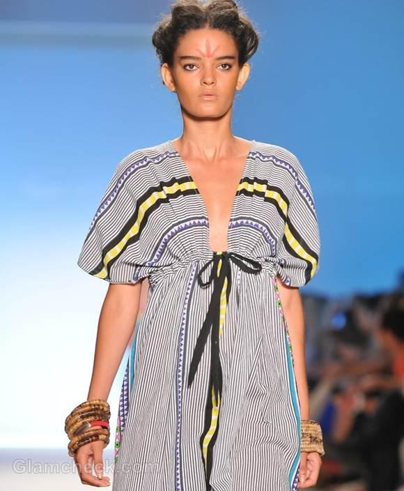 Style pick stripe beach kaftan Mara Hoffman s-s -2012
