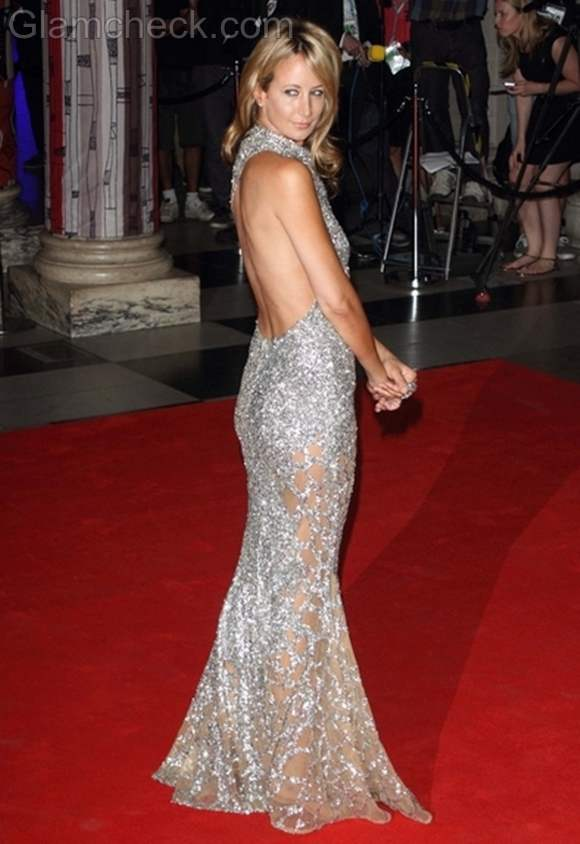 Victoria Hervey backless gown
