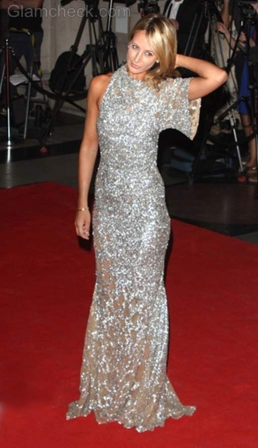 Victoria Hervey shimmery gown