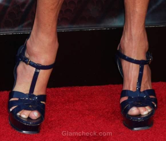 ankle strap heels Janice Dickinson