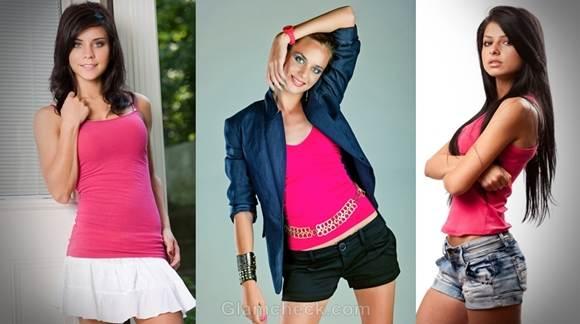 how to wear pink tank tops