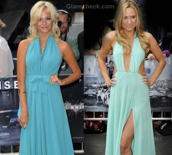 pixie lott Kimberley Garner blue gowns
