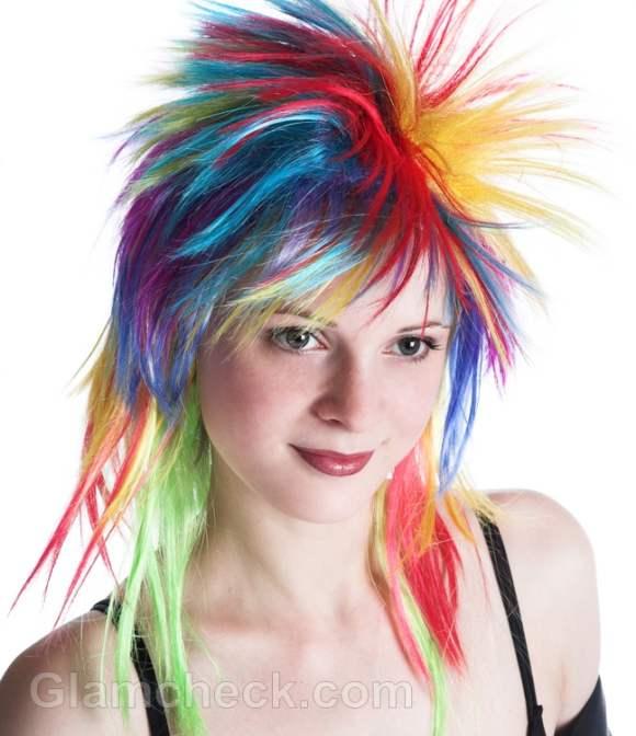 rainbow hair color dye