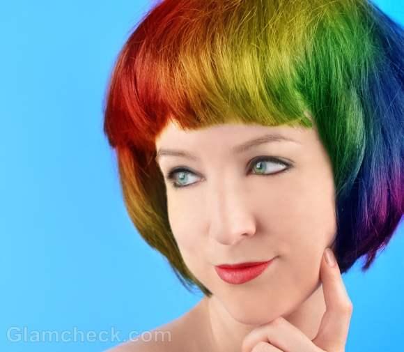 rainbow hair coloring