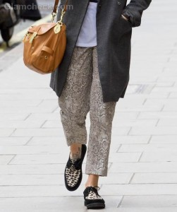 Fearne Cotton Rocks Grunge Look on Streets of London