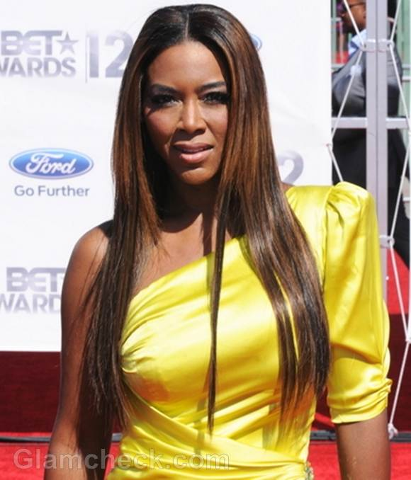 straight long hair Kenya Moore
