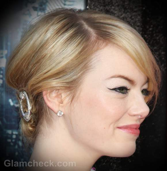updo hairstyle Emma Stone hair