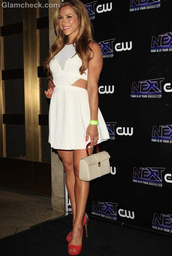 Allison Hagendorf Cute in Little Off-White dress