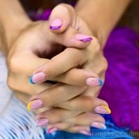 DIY nail art colored tips