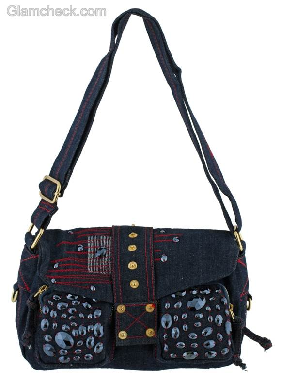 Denim handbags-cross-body bag
