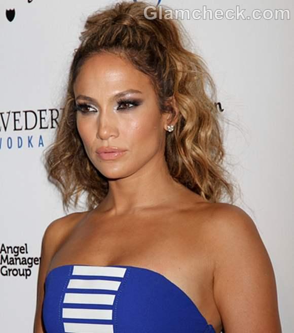Jennifer Lopez Luminous Makeup Hair at World Tour Post Party