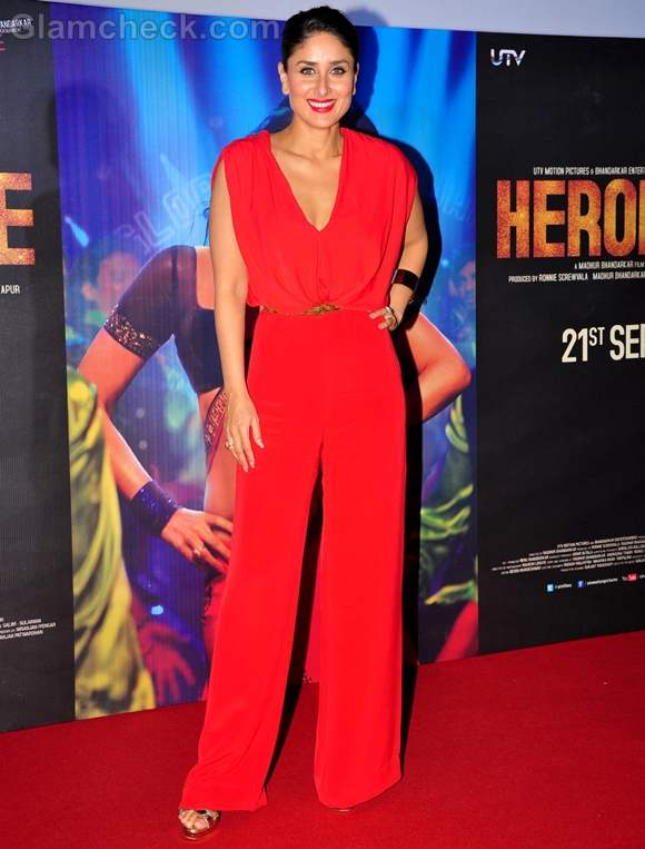 Kareena Kapoor red Jumpsuit at First Look of Heroine