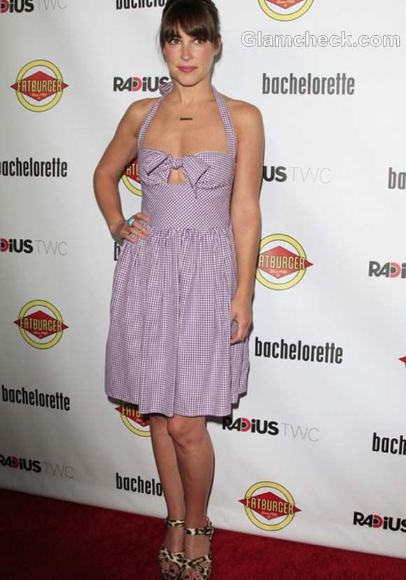 Lindsay Sloane in Gingham Dress Bachelorette Premiere