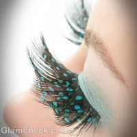polka dot feather eyelashes