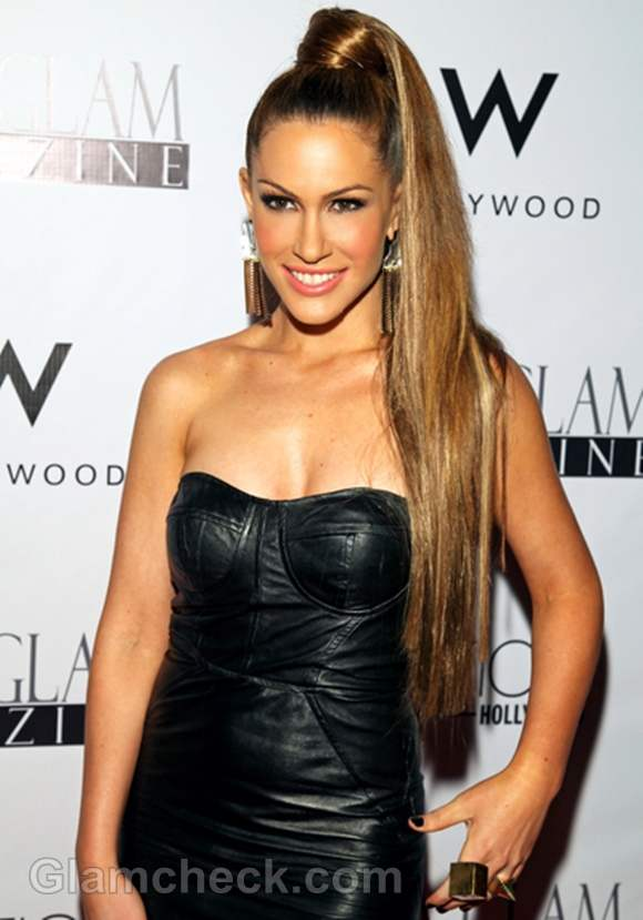 ponytail hairstyle Kimberly Cole