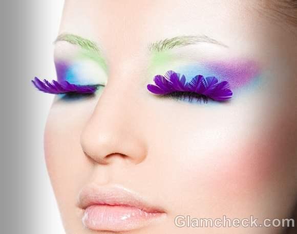 purple feather eyelashes