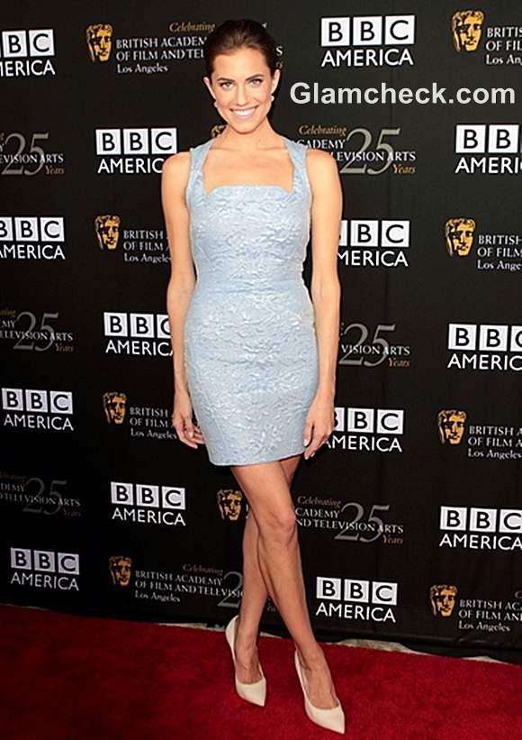 Allison Williams Lacy Blue Dress