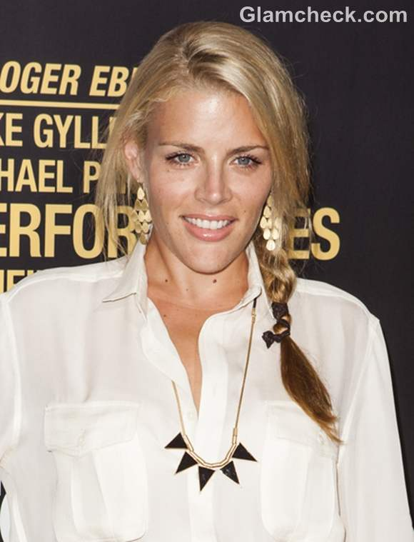 Busy Phillips side braid hairstyle
