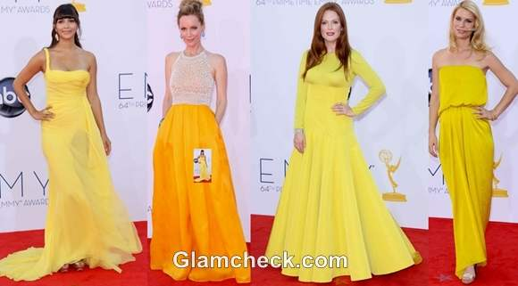 Celebs in Yellow at 64th Annual Emmys