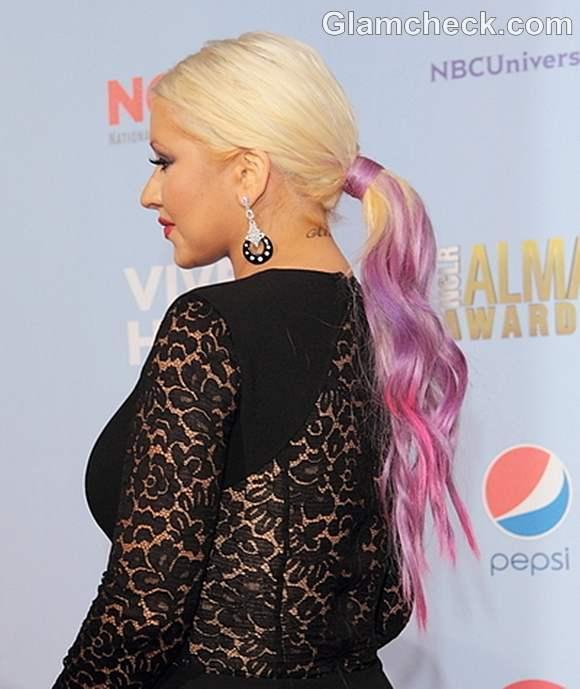 Christina Aguilera hair color at 2012 NCLR ALMA Awards