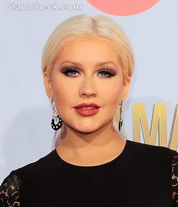 Christina Aguilera makeup at Awards Show