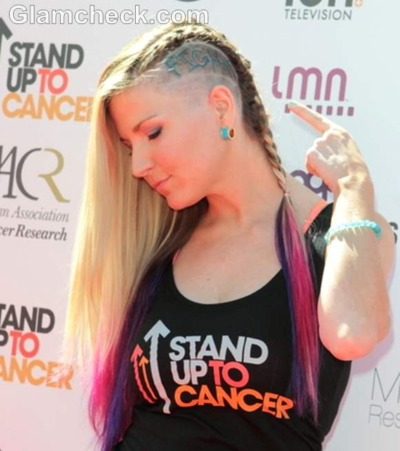 Diem Brown Mohawk  hair stand up to cancer