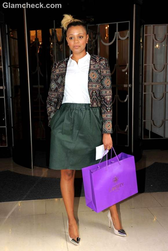 Gemma Cairney at Fearne Cotton Fashion Show 2012