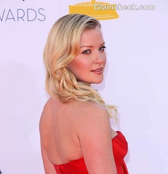Gretchen Mol Side Swept Curly hairstyle