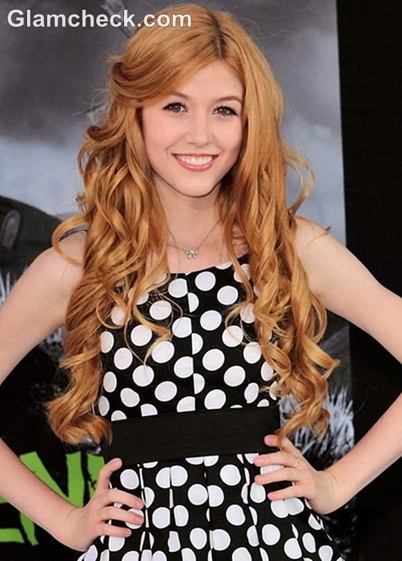 Katherine McNamara curly hairstyle
