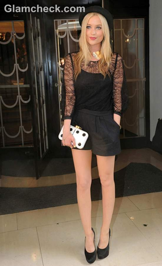 Laura Whitmore at Fearne Cotton Fashion Show 2012