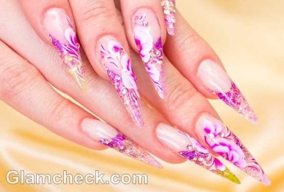 Pink nail art-2
