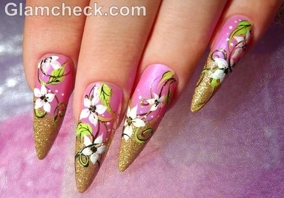 Pink nail art-5