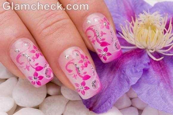 Pink nail art-7