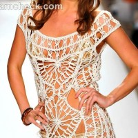 Style crochet beach cover-up Anna Kosturova s-s- 2013