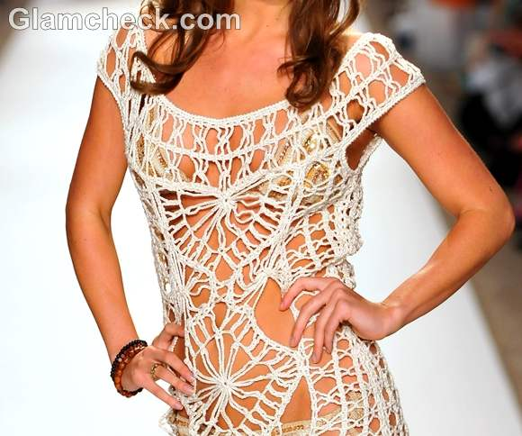 Style crochet beach cover-up Anna Kosturova s-s- 2013