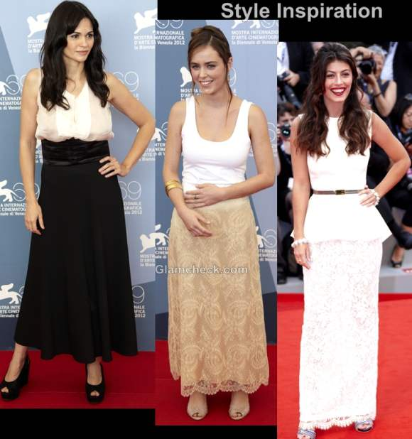 Style inspiration wearing long skirts