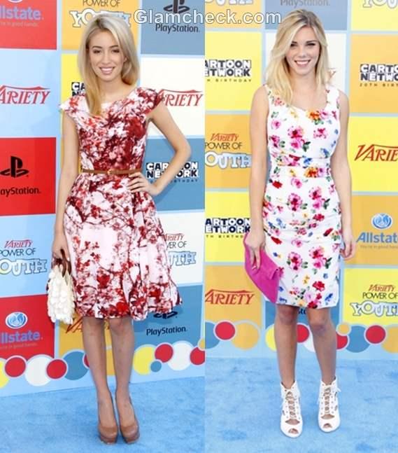 floral dress Claire Julien-Christian Serratos